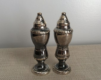 Vintage Silver Plate Neco Salt and Pepper Shakers