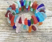 Sea Glass Bracelet colorful Multicolored by Wave of Life