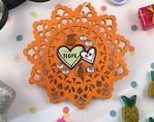 Nope n' O.K. Heart Ornament
