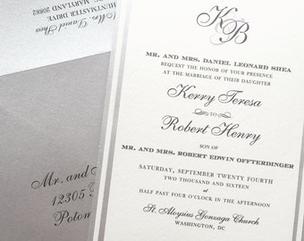 Classic Pocket Wedding Invitation - SAMPLE