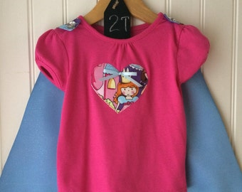 Tee + Cape - Princesses Forever - Girl's 24 month