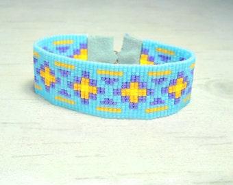 Hippie Bracelet - Boho Beaded Bracelet - Adjustable Bracelet - Seed Bead Bracelet - Womens Bracelet - Spring Bracelet - Gifts For Her