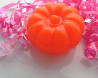10 PUMPKIN SOAP FAVORS - Pumpkin Party Favors, Little Pumpkin Baby Shower Favor, Halloween Party, Thanksgiving,Harvest (Favor Tags Included)