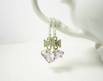 Clearance - Pink Amethyst Earrings - Light Purple Amethyst Jewelry - Sterling Silver Earrings - February Birthstone Jewelry