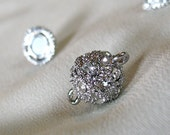 TWO 12mm Sparkling Rhinestone Magnetic Clasps