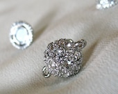Sparkling Rhinestone Magnetic Clasp, 12mm