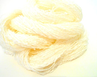3 Skeins Off White Vintage Yarn, Lace Weight Crimped Yarn, Knitting Supplies, Phoenix Dye Works, Y160