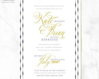 Wright Nautical Wedding Invitations