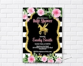 Unicorn Baby Shower Invitation Baby birthday invite Boy Shower Invite party Invitation Card Design baby boy baby girl shower - card 944