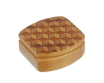 Wooden Box, Solid Cherry, Pattern MS1, Paul Szewc, Masterpiece Laser