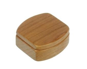 Solid Cherry Box, Mini Box, Ring Box, Jewelry Box, Customize, MS40, Paul Szewc