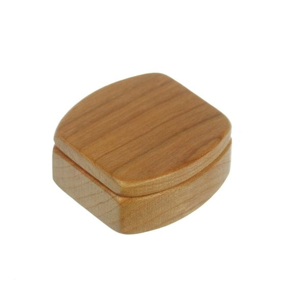 Solid Cherry Box, Mini Box, Ring Box, Jewelry Box, Customize, MS40, Paul Szewc