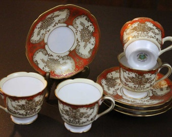 Vintage Demitasse Cup and Saucer Set - Noritake Japan (lot of 4)