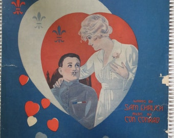 1908 Oh! Frenchy Sam Ehrlich Con Conrad Song Book Sheet Music