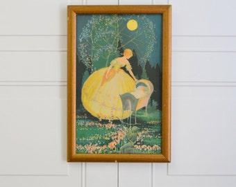 Framed Art Nouveau Print