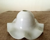 Vintage White milk glass light shade. My Vintage home.