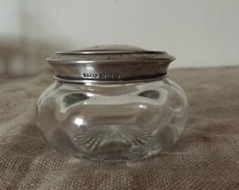 Fabulous VINTAGE sterling silver top perfume bottle. My vintage home / vintage decor.