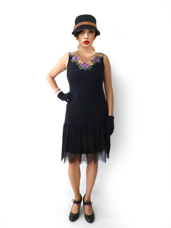 Items Similar To Great Gatsby Dress Retro Flapper Dress Roaring 20s Dress Downtown Abbey