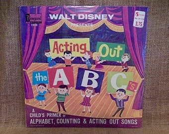 SEALED...Walt Disney Presents - Acting Out the A B C's - 1964 Vintage Vinyl Record Album