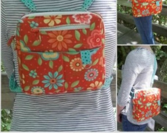 Spring sale on now!  Sally Forth Purse Sewing Pattern - PDFdownload - by Grace's Cases Designs