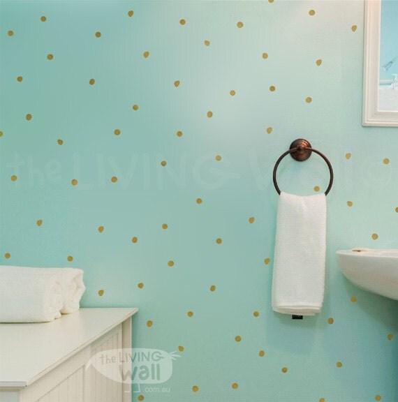 goldene hand gezeichneten punkte aufkleber vinyl wand. Black Bedroom Furniture Sets. Home Design Ideas