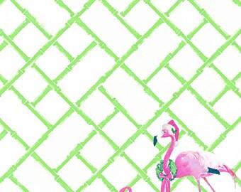 Christmas Holiday Blue White Ginger Jar Staffordshire Dog Flamingo Notepads