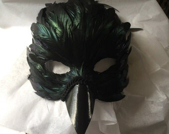 feather crow raven mask