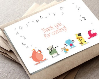 Funny Thank You Card | Music Party card | baby shower thank you card | Gender Neutral | INSTANT DOWNLOAD