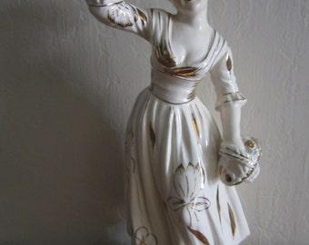 Vintage Woman Girl Lady Ceramic Figurine Japan