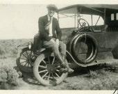"Vintage Photo ""Exploring New Roads"" Snapshot Antique Photo Old Black & White Photograph Found Paper Ephemera Vernacular - 8"