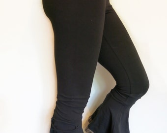 Stretch Bell Pants w Lacing & Frill - Hooping, Dance, Yoga, Elven, Festival Clothing