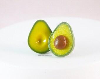 Food Jewelry - Avocado Stud Earrings - Sensitive Ears - Girls Earrings