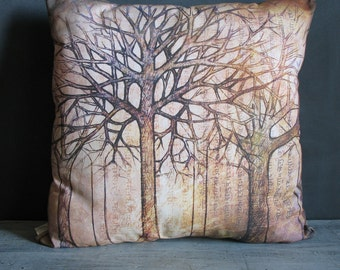 Ancient Trees Throw Pillow