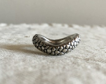 Snake Reptile Scale Ring Size: US6.25 Small finger Sterling silver