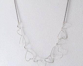 Chain of hearts / hearts link chain / handmade chain
