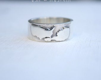 unique mens ring custom country ring customized jewelry mens wedding band personalized promise ring