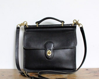Vintage Coach Bag // Coach Crossbody // Coach Willis Bag in Black 9927 // Coach Purse Handbag