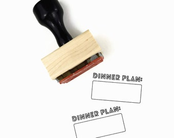 """Rubber Stamp """"Dinner Plan"""" - Meal Tracker For Your Planner Stamp by Creatiate"""