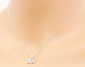 2016 Graduate Necklace Sterling Silver Graduate Present Friends Year