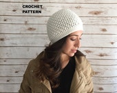 Crochet Hat Pattern, The Kelsey Beanie, Crochet Ribbed Style Beanie Hat PATTERN, Adult Beanie PDF Instant Downlaod