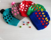Unisex Knitting Hat pattern - all the family hats -7 sizes . newborn\children\teen\adult - Instant Download