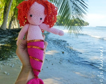Doll Crochet pattern PDF - Mermaid Amigurumi Crochet Pattern PDF  - Instant  DOWNLOAD