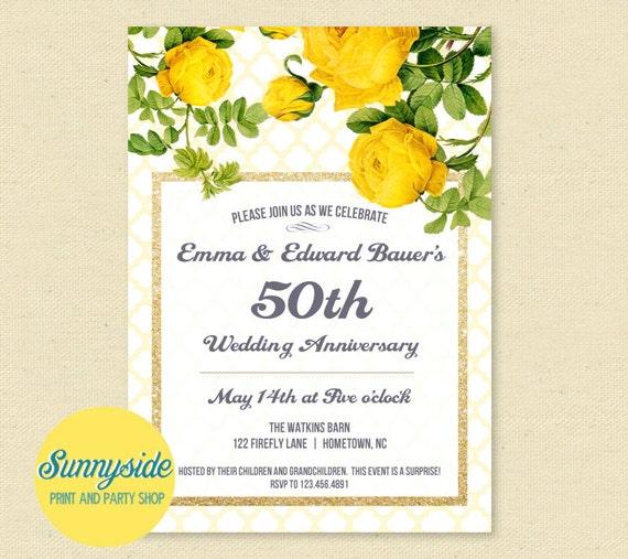 50th wedding anniversary invitations surprise