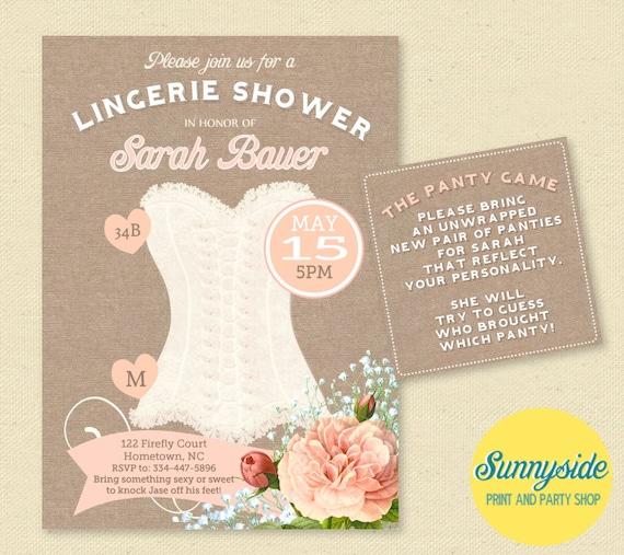 Bridal shower lingerie invitation pink blush corset lingerie il570xn filmwisefo