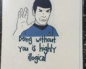 Star Trek Spock Illogical Card