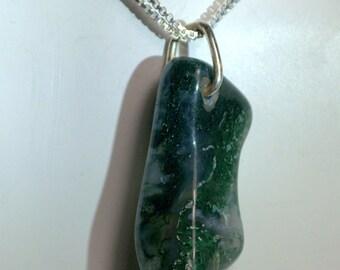 Moss Agate Pendant.
