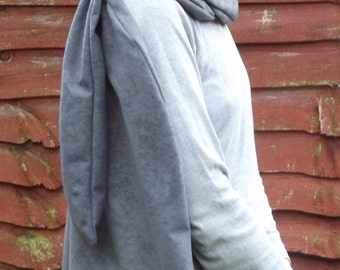 Destiny style cape cloak in faux suedette fabric with infinity scarf cosplay