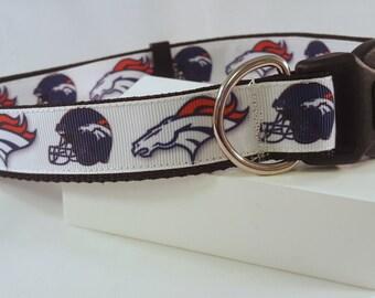 Dog Collar - Adjustable - Denver Broncos