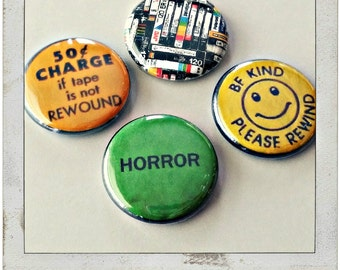 """VHS love 1"""" Button Choose Your Own"""