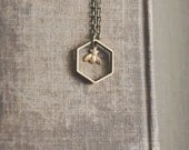 tiny bee necklace.
